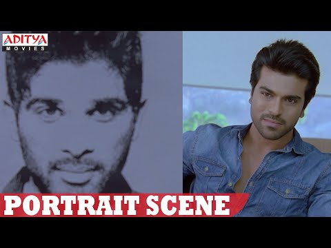Yevadu Movie || Allu Arjun Portrait Scene || Ram Charan, Shruthi Hasan