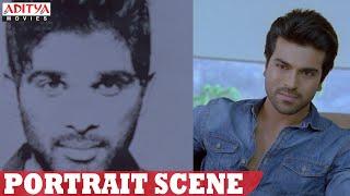 Yevadu Movie || Allu Arjun Portrait Scene || Ram Charan, Shruthi Hasan