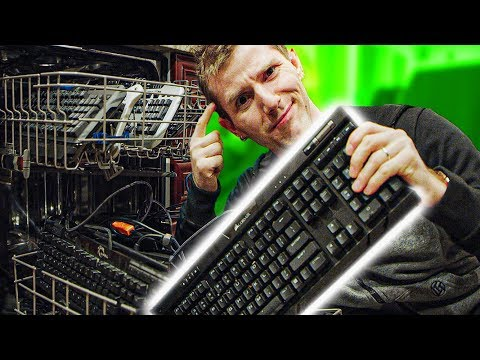 The best way to clean a keyboard is… the DISHWASHER?