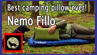 Best camping pillow ever! Nemo Fillo