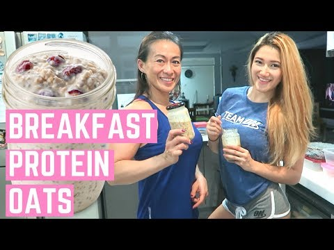 PROTEIN overnight oats | Healthy + Easy Breakfast | Olympia Prep Ep 7