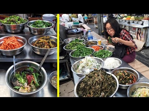 Eating Bibimbap at Gwangjang Market & Other Korean Street Food