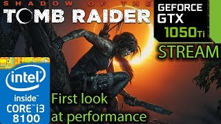 Shadow Of The Tomb Raider - GTX 1050 ti - i3 8100 - Finding the biggest FPS hit - benchmark PC