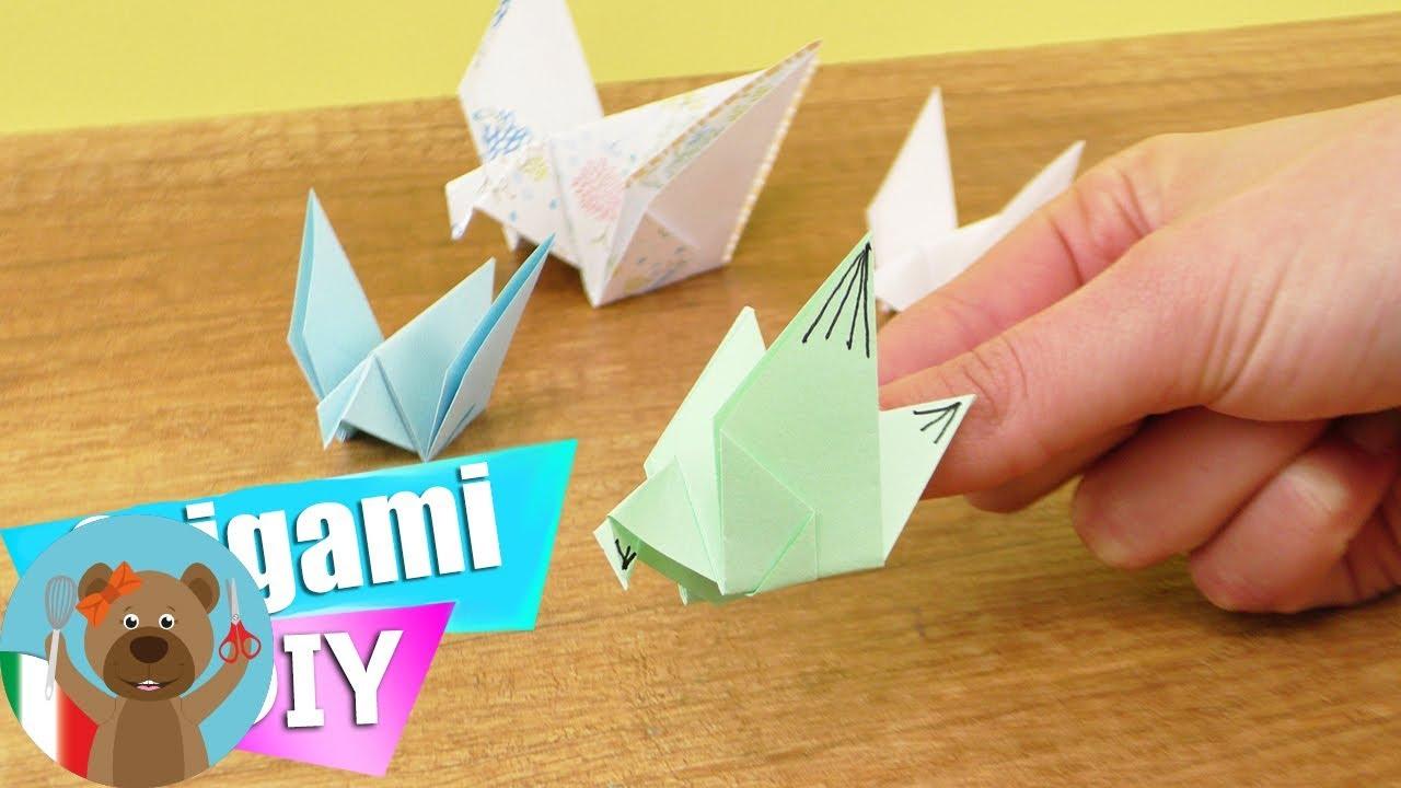 Lampada Origami Istruzioni : Origami facili come fare l uccellino che vola tutorial per