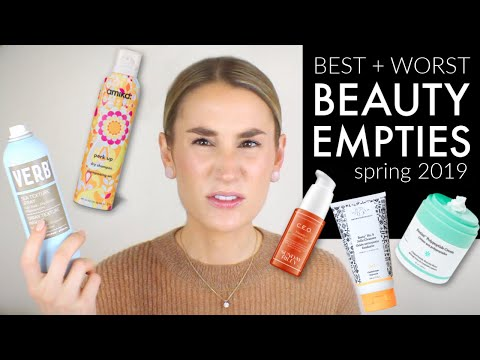 CHATTY EMPTIES REVIEW | Drunk Elephant, Sunday Riley, Kjaer Weis, Glossier + MORE! | Clean + Dirty thumbnail