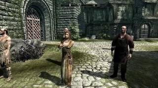 The Elder Scrolls V: Skyrim - Раздеваем девушек в Солитьюде :D