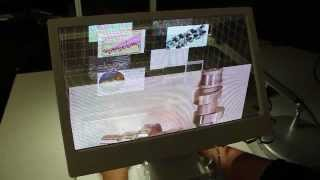 see through 3d desktop behind the screen overlay interaction