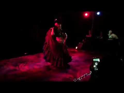 Alicia tribal fusion flamenco fan and DC skirt