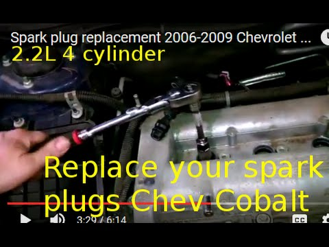 Spark plug replacement 20062009 Chevrolet Cobalt Install Remove