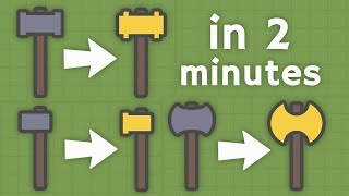 MOOMOO.IO - GOLDEN WEAPONS IN 2 MINUTES! HOW TO GET GOLDEN WEAPONS FAST! (Moomoo.io Gameplay)
