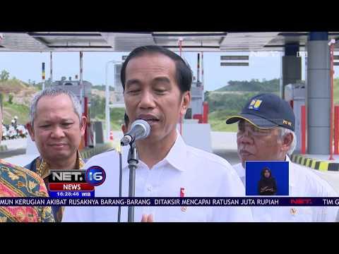 Jokowi Resmikan Tol Pertama Di Lampung - NET 16