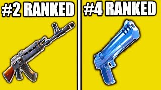 TOP 10 BEST WEAPONS IN FORTNITE SEASON 7! BEST GUNS IN FORTNITE BATTLE ROYALE TOP 10 WEAPONS!