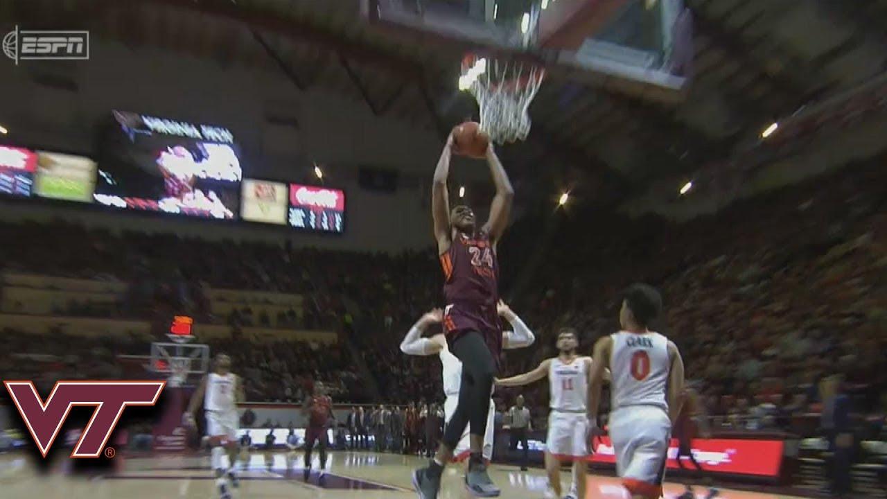 Virginia Tech Stifling Defense Results In Kerry Blackshear Jr. Dunk