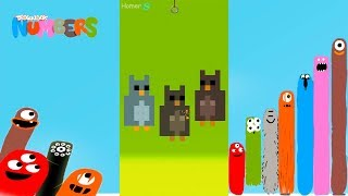 Fun Animals 5 Part1 Puzzles - DragonBox: Numbers (iPad, iPhone, Android). Fun game for kids.
