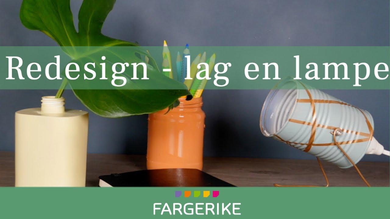 Spraymaling lampe Redesign metallbokser   Fargerike