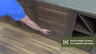 Schuler Cabinetry: Two Drawer Base With Hidden Storage, Kitchen Storage Part 16