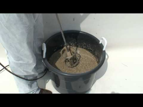 Pumping epoxy grout with the QuiksprayInc® Carrousel® Pump and Cage Mixer™ Mixer