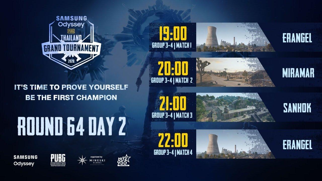 SAMSUNG Odyssey PUBG Thailand Grand Tournament 2020 รอบ 64 Day 2