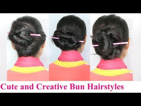 Cute and Creative Everyday Bun Hairstyles – Medium Long Hair