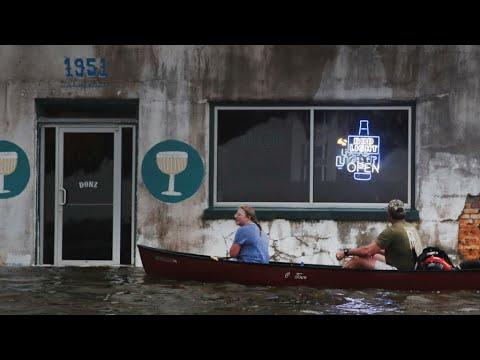 Weakened storm Barry crawls across Louisiana, drenching Gulf Coast