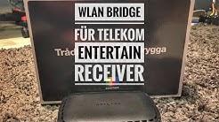 günstige Alternative zur Telekom WLAN Bridge für 19€ / Entertain Receiver per Wlan anschließen