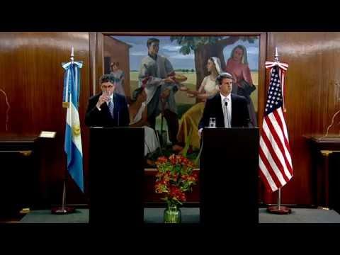 Declaraciones conjuntas del ministro Prat Gay y el Secretario del Tesoro de EEUU, Jack Lew.