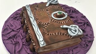 Cake decorating tutorials | How to make a 3D book of SPELLS CAKE | Sugarella Sweets