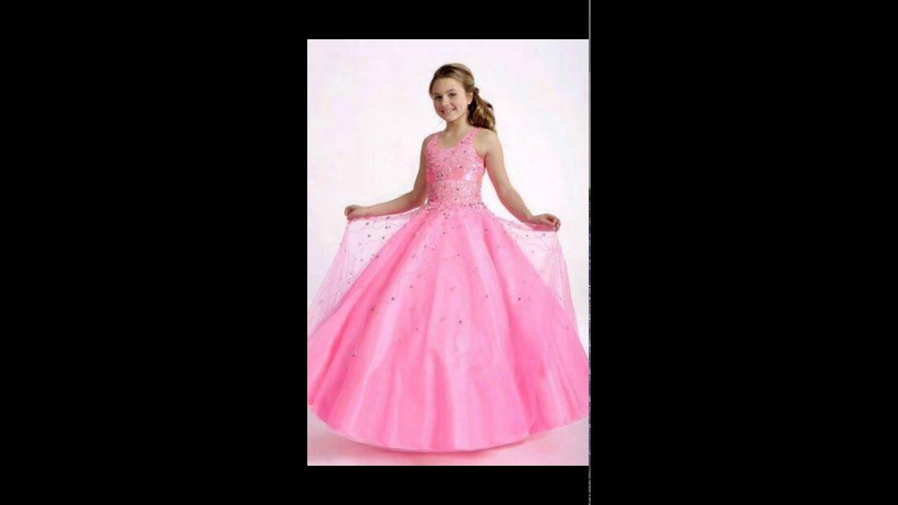 Vestidos De Fiesta Para Niña Largos - YouTube