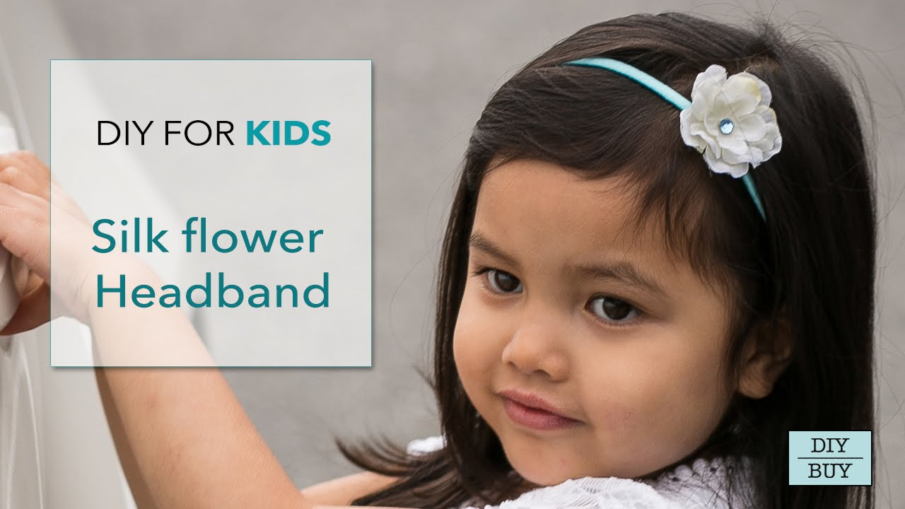 Diy for kids silk flower headband youtube mightylinksfo