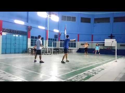funny badminton head shot