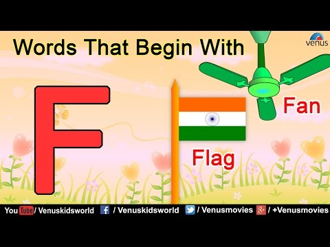 Words That Begin With 'F'