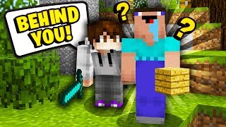 TROLLING the BIGGEST NOOB EVER in Minecraft Skywars...