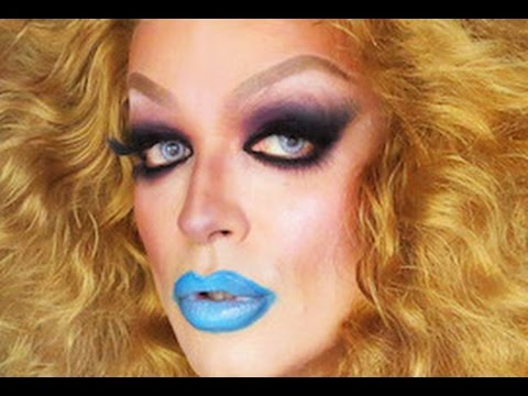 simple fast and dramatic halloween drag makeup  youtube