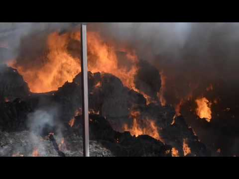 St Germains haystack fire
