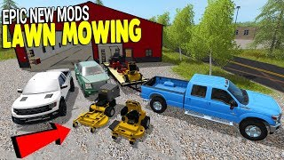 GIANT $$$ MOWING RIG CO. & HUGE TRAILER HAUL | Farming Simulator 17 Gameplay