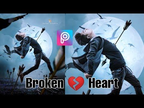 Broken Heart Arrow Kills Photo Editing Tutorial In Picsart Step By Step In Hindi -Viral Editing