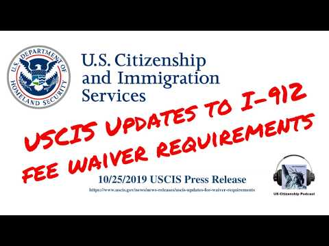 USCIS Updates Fee Waiver Requirements