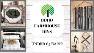 DOLLAR TREE DIYS / BOHO FARMHOUSE DECOR / UNDER $5!