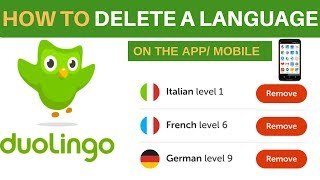 How To Delete A Language On Duolingo App Using Your Phone