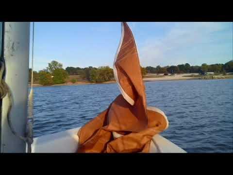 Sailing at Thomas Hill Lake in Missouri