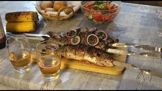 Рыба на МАНГАЛЕ I Сибас,Дорадо,Форель