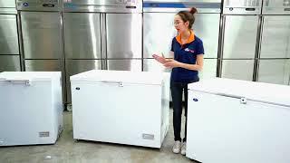 Tủ Đông Mini Trữ Sữa, Thực Phẩm 100 lít Nhật Bản - Sanden - Nhập Khẩu Thái Lan