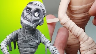 SO DETAILED! Making THE MUMMY! Subscriber Request No. 11 - Sculpture Process with Polymer Clay