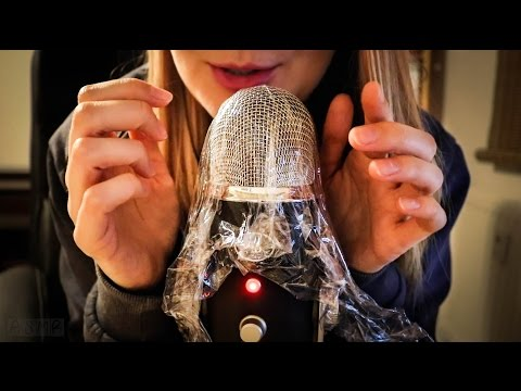Rough ASMR: Plastic Wrap over Microphone