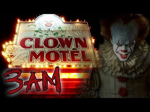 (GHOST CLOWNS) CLOWN MOTEL AT 3AM  - HAUNTED OVERNIGHT CHALL