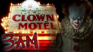(GHOST CLOWNS) CLOWN MOTEL AT 3AM - HAUNTED OVERNIGHT CHALLENGE | OmarGoshTV