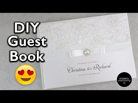 Hardcover Wedding Guest Book Tutorial - DIY Wedding Invitati