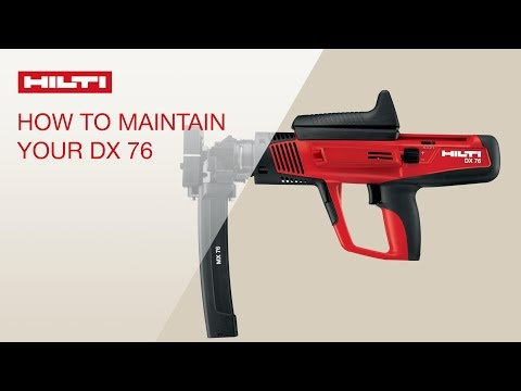HOW TO clean and maintain your Hilti powder-actuated tool DX 76
