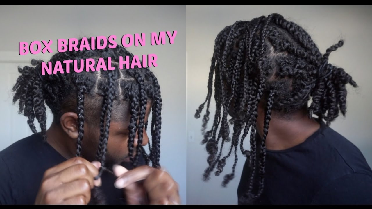 twists box braids men's natural