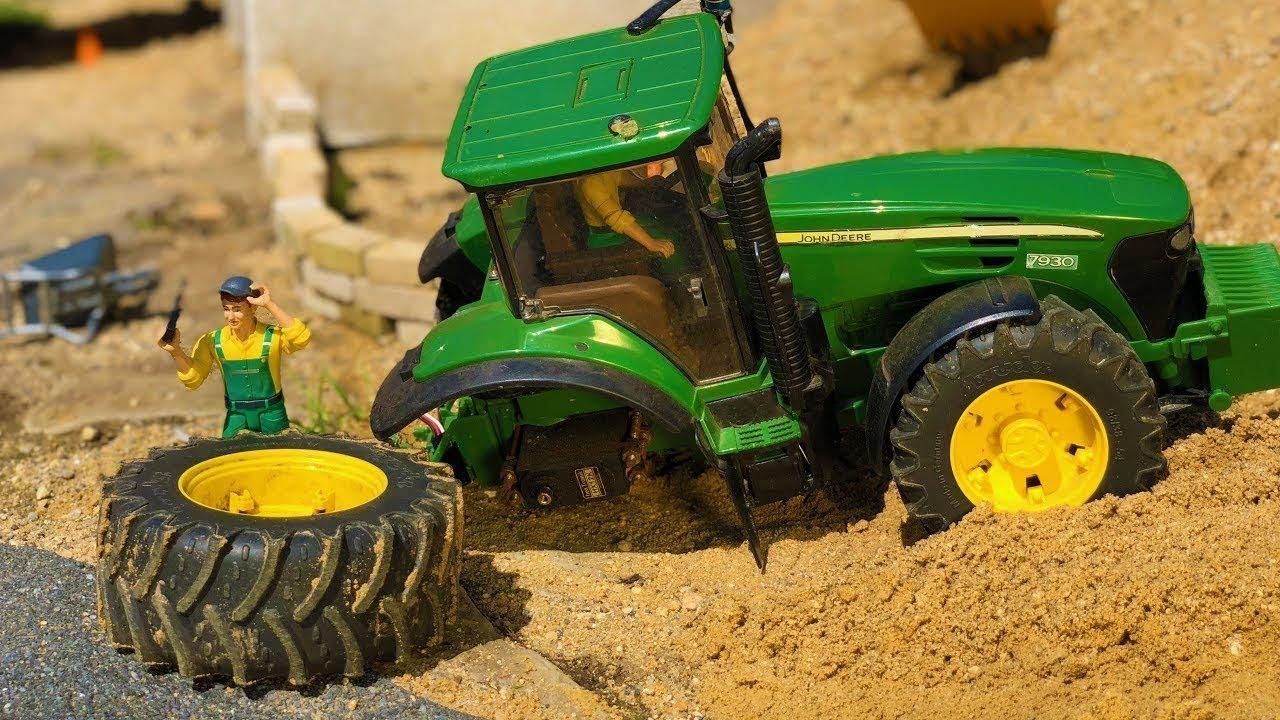 BEST OF BRUDER Toys Broken wheel accidents! Trucks, tractors, excavators!
